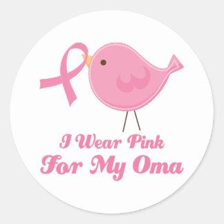 I Wear Pink For My Oma Round Sticker