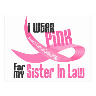 I Wear Pink For My Sister-In-Law 33 Postcards