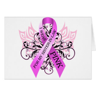 I Wear Pink for my Sister in Law.png Greeting Card