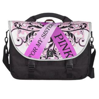 I Wear Pink for my Sister in Law png Laptop Messenger Bag