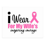 I Wear Pink For My Wife's Inspiring Courage Post Card