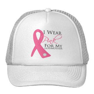 I Wear Pink Godmother Breast Cancer Cap