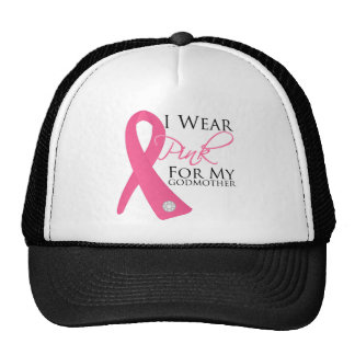 I Wear Pink Godmother Breast Cancer Cap