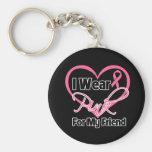 I Wear Pink Heart Ribbon Friend Breast Cancer
