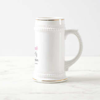 I Wear Pink Ribbon Breast Cancer Mother Coffee Mugs