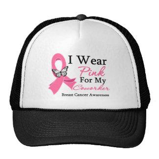 I Wear Pink Ribbon Coworker Breast Cancer Trucker Hat