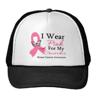I Wear Pink Ribbon Coworker Breast Cancer Hats
