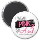 I Wear Pink Ribbon For My Aunt Breast Cancer Fridge Magnet