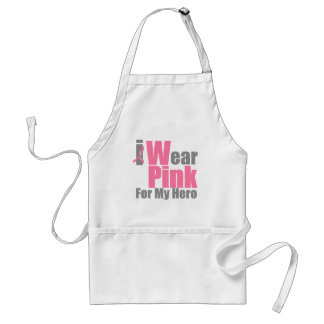 I Wear Pink Ribbon For My Hero Standard Apron