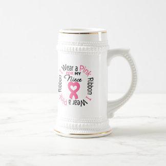 I Wear Pink Ribbon For My Niece Coffee Mugs