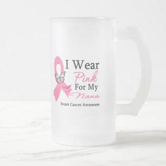 I Wear Pink Ribbon Nana Breast Cancer Coffee Mugs