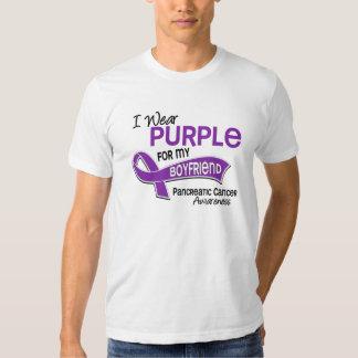 I Wear Purple 42 Boyfriend Pancreatic Cancer Shirt