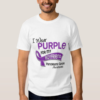 I Wear Purple 42 Boyfriend Pancreatic Cancer T Shirt