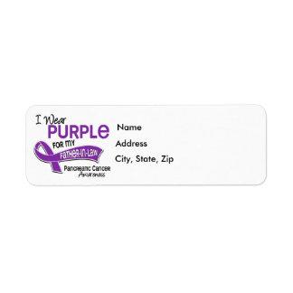 I Wear Purple 42 Father-In-Law Pancreatic Cancer Return Address Label