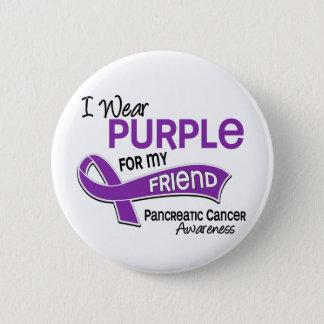 I Wear Purple 42 Friend Pancreatic Cancer 6 Cm Round Badge