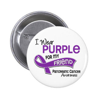 I Wear Purple 42 Friend Pancreatic Cancer 6 Cm Round Badge