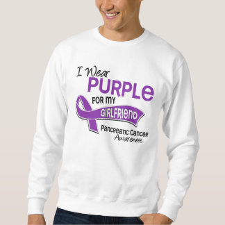 I Wear Purple 42 Girlfriend Pancreatic Cancer Sweatshirt