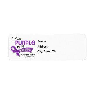 I Wear Purple 42 Grandfather Pancreatic Cancer Return Address Label