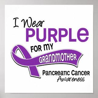I Wear Purple 42 Grandmother Pancreatic Cancer Print