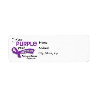 I Wear Purple 42 Grandmother Pancreatic Cancer Return Address Label