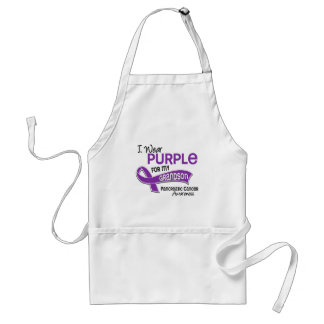 I Wear Purple 42 Grandson Pancreatic Cancer Standard Apron