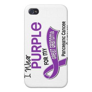 I Wear Purple 42 Great Grandma Pancreatic Cancer iPhone 4 Cover
