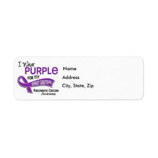 I Wear Purple 42 Great Grandpa Pancreatic Cancer Return Address Label