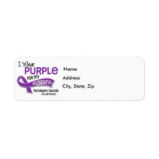 I Wear Purple 42 Husband Pancreatic Cancer Return Address Label