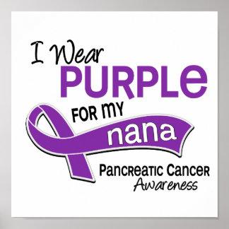 I Wear Purple 42 Nana Pancreatic Cancer Poster