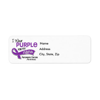 I Wear Purple 42 Nana Pancreatic Cancer Return Address Label