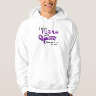 I Wear Purple 42 Nephew Pancreatic Cancer Hooded Sweatshirt