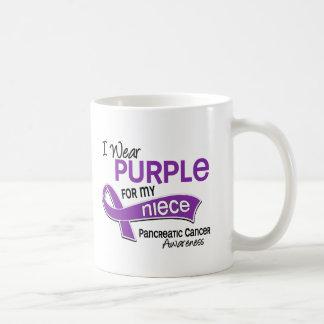 I Wear Purple 42 Niece Pancreatic Cancer Basic White Mug