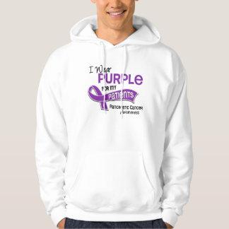 I Wear Purple 42 Patients Pancreatic Cancer Hooded Sweatshirt