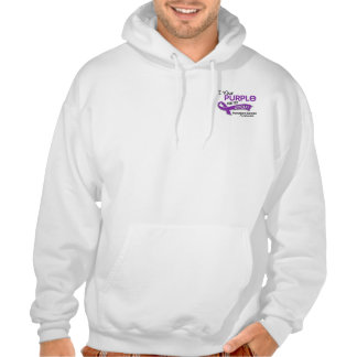I Wear Purple 42 Uncle Pancreatic Cancer Hooded Pullover