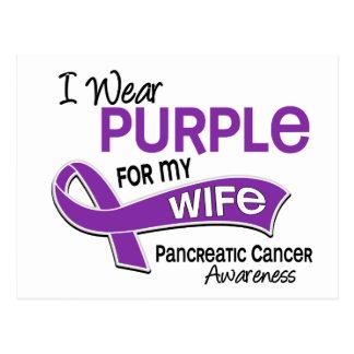 I Wear Purple 42 Wife Pancreatic Cancer Postcard