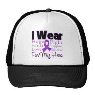 I Wear Purple Collage Hero - Pancreatic Cancer Cap