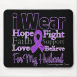 I Wear Purple Collage Husband - Pancreatic Cancer Mouse Pad