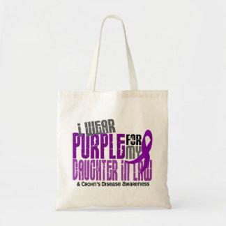 I Wear Purple Daughter-In-Law 6 Crohn's Disease Canvas Bags