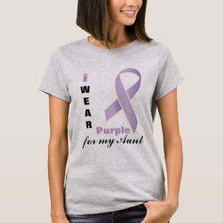 I Wear Purple | DIY Text T-Shirt