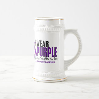 I Wear Purple For Daughter-In-Law 10 Fibromyalgia 18 Oz Beer Stein