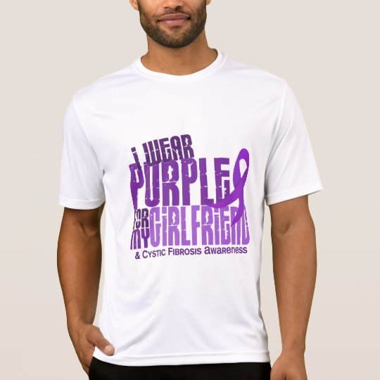 I Wear Purple For Girlfriend 6.4 Cystic Fibrosis T-Shirt