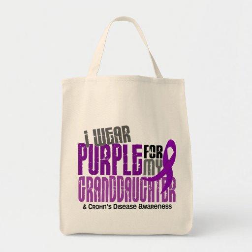 I Wear Purple For Granddaughter 6 Crohn's Disease Canvas Bag
