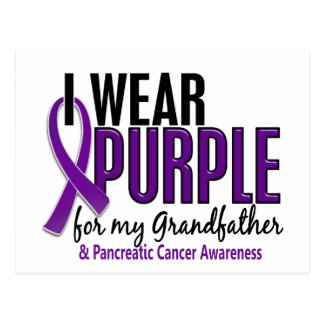 I Wear Purple For Grandfather 10 Pancreatic Cancer Postcard