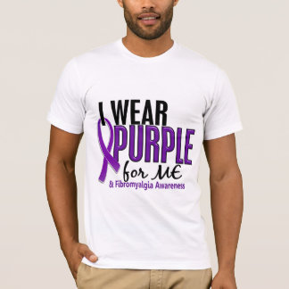 I Wear Purple For ME 10 Fibromyalgia T-Shirt