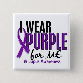 I Wear Purple For ME 10 Lupus 15 Cm Square Badge