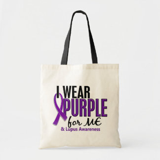 I Wear Purple For ME 10 Lupus Budget Tote Bag