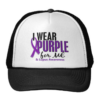 I Wear Purple For ME 10 Lupus Cap