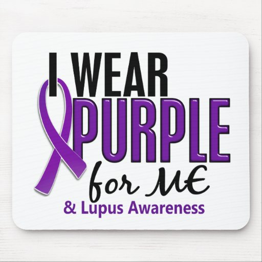 I Wear Purple For ME 10 Lupus Mouse Pad