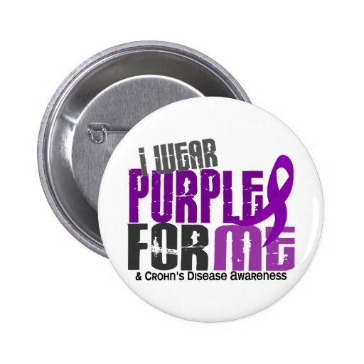 I Wear Purple For ME 6 Crohn's Disease Pin