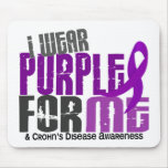 I Wear Purple For ME 6 Crohn's Disease Mouse Pads